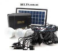 Аккумуляторный фонарь c солнечной батареей GDLite GD-8037