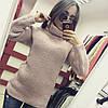 Удлиненный вязаный свитер с горловиной, фото 5