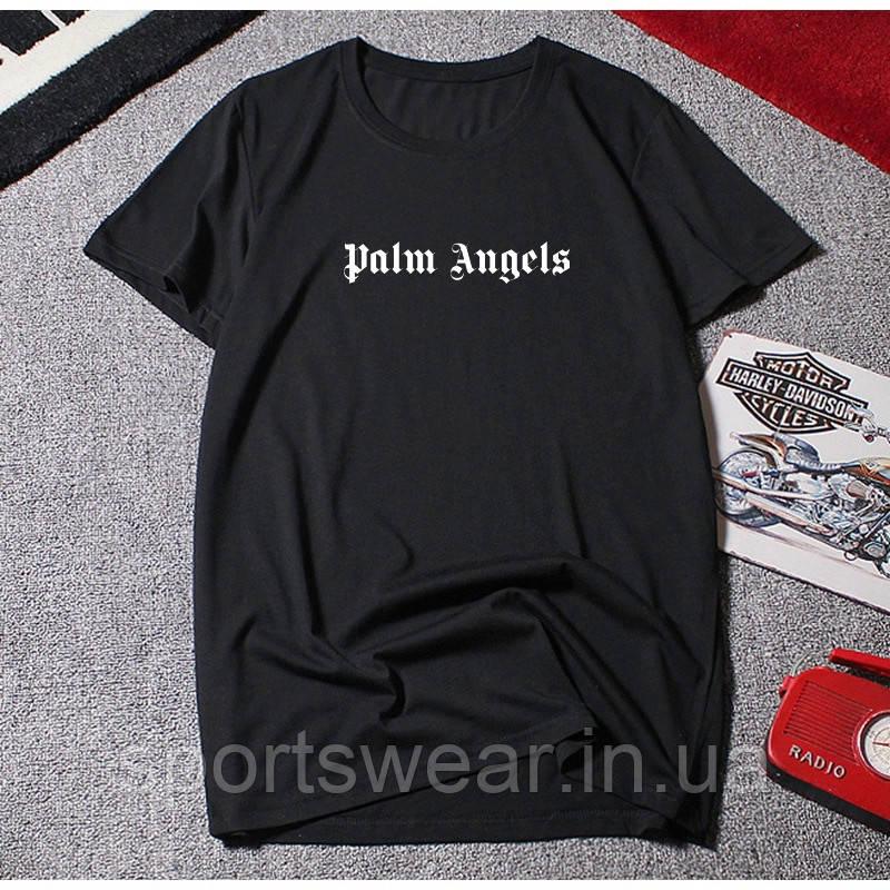 Футболка Palm Angels Base Logo черная, унисекс