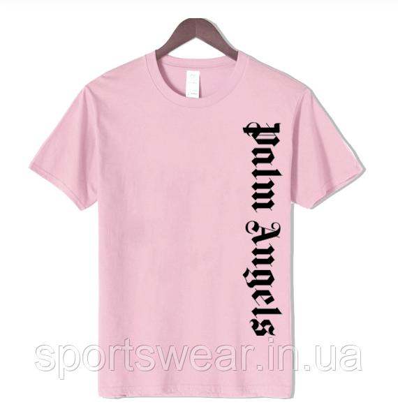 Футболка Palm Angels Logo Product side розовая с лого, унисекс
