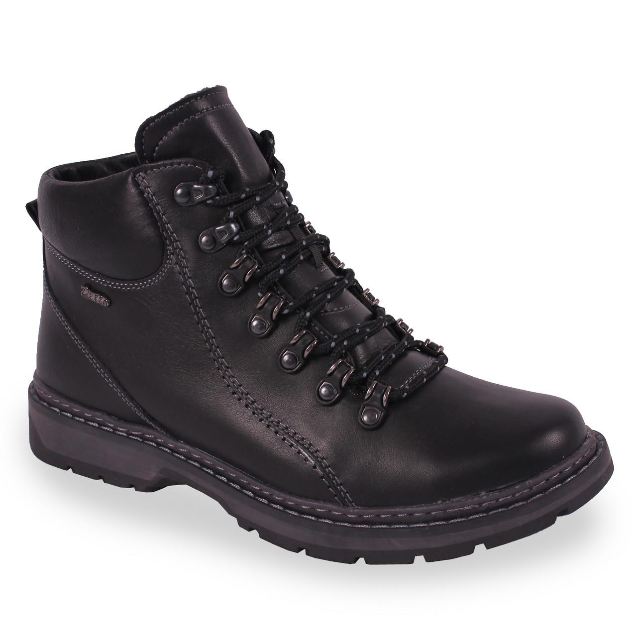 Удобные мужские ботинки Detta Studio (зимние, натуральная кожа, удобная  подошва, черные, bd2fef71911