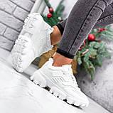 Кроссовки женские Liam белые ЗИМА 2723, фото 6