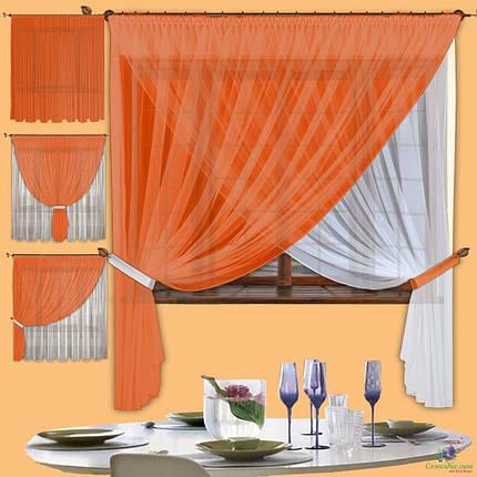 Комплект штор Лиана Терракот, кухонные, фото 2