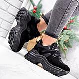 Кроссовки женские Mason черный ЗИМА 2724, фото 5