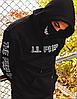 Черное худи Lil Peep Face унисекс, фото 2