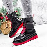 Ботинки женские Emma черные с красным ДЕМИ 2728, фото 3