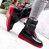 Ботинки женские Emma черные с красным ДЕМИ 2728, фото 7