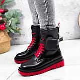 Ботинки женские Emma черные с красным ДЕМИ 2728, фото 8
