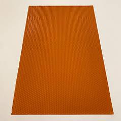 Цветная вощина для изготовления свечей, лист 41х26 см, оранжевый