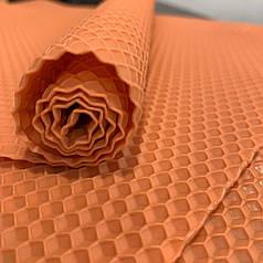 Цветная вощина для изготовления свечей, лист 41х26 см, персиковый