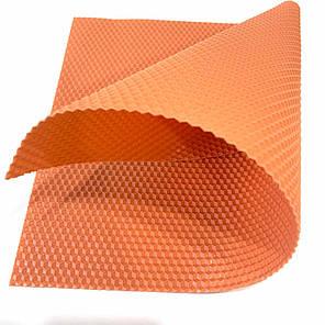 Цветная вощина для изготовления свечей, лист 41х26 см, персиковый, фото 2
