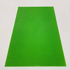 Цветная вощина для изготовления свечей, лист 41х26 см, салатовый