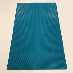 Цветная вощина для изготовления свечей, лист 41х26 см, синий