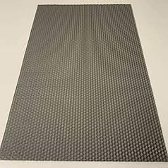 Цветная вощина для изготовления свечей, лист 41х26 см, серый