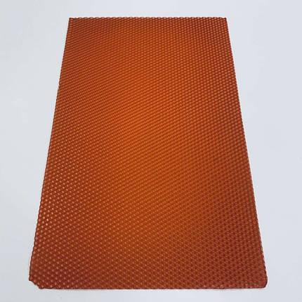 Цветная вощина для изготовления свечей, лист 41х26 см, терракотовый, фото 2