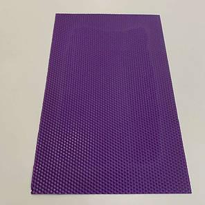 Цветная вощина для изготовления свечей, лист 41х26 см, фиолетовая, фото 2