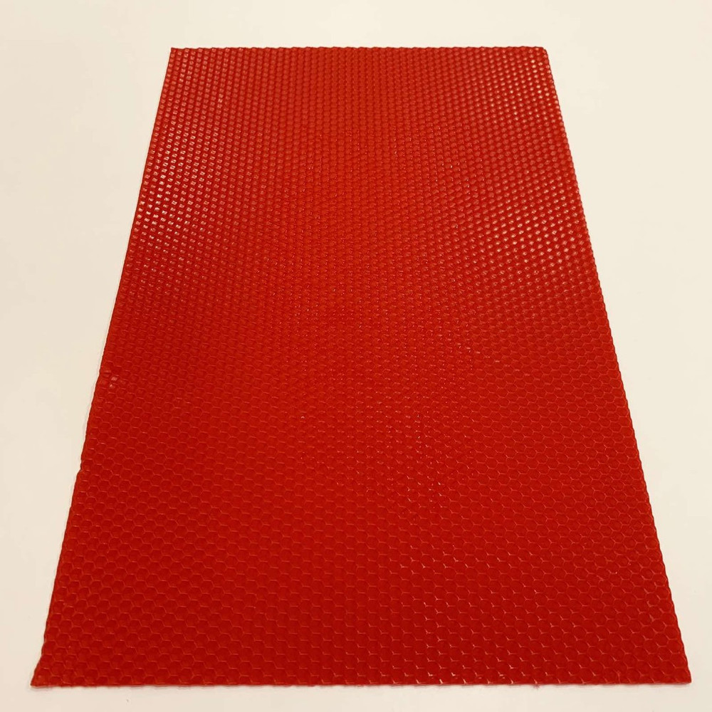Кольорова вощина для виготовлення свічок, лист 41х26 см, червона