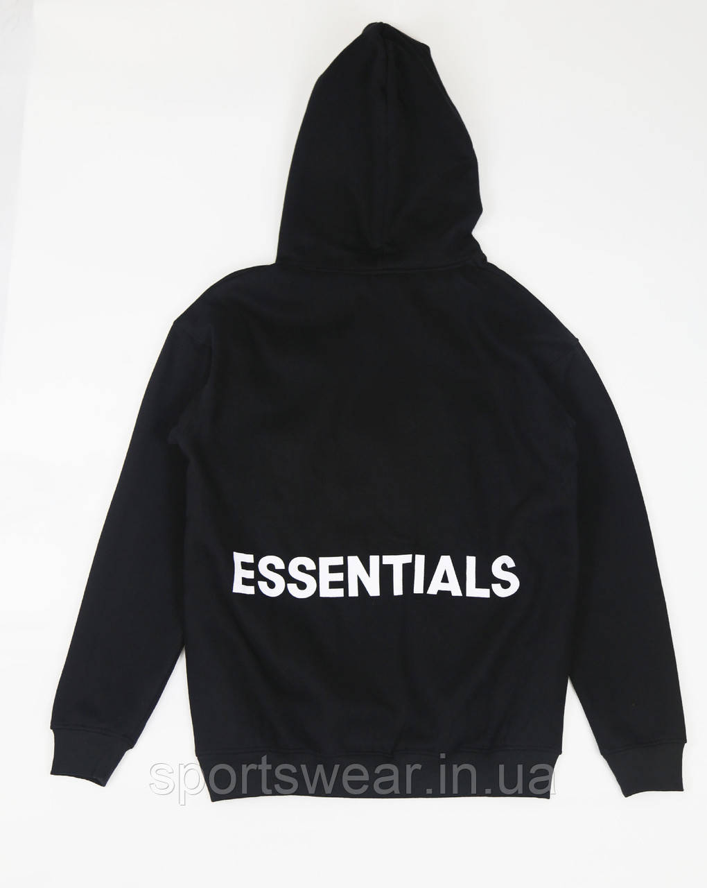 Черное худи Fear Of God Essentials Logo, унисекс