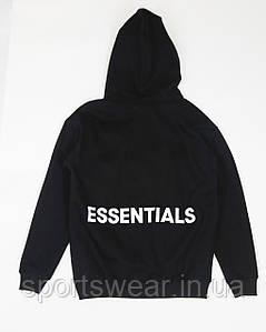Черное худи Fear Of God Essentials Logo, унисекс