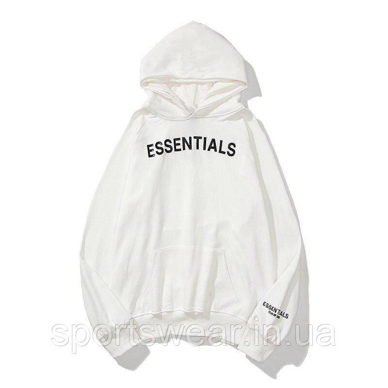 Белое худи Fear Of God Essentials 2020 Logo, унисекс