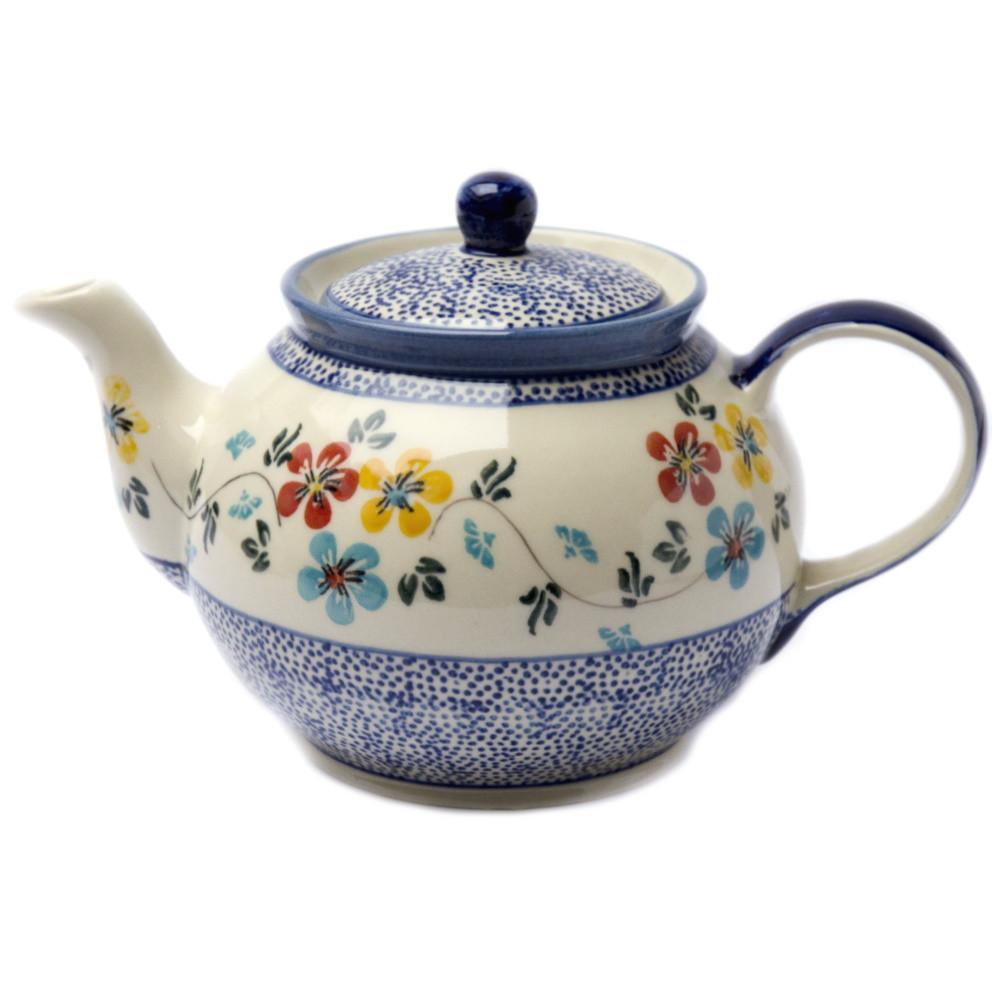 Заварочный керамический чайник 1L Весенний луг