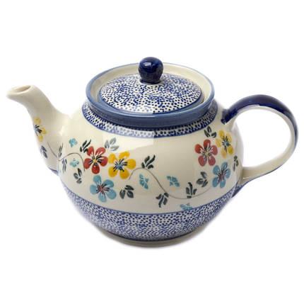 Заварочный керамический чайник 1L Весенний луг, фото 2