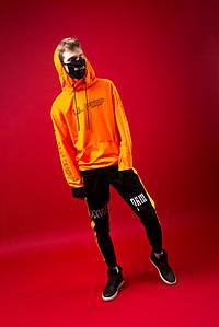 Худи Lil Peep xx Sad Smile Orange оранжевое, унисекс (мужское, женское)