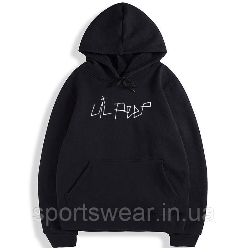 Черное худи Lil Peep Logo, унисекс