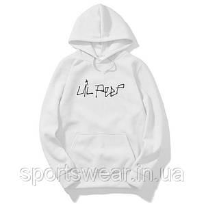 Белое худи Lil Peep Logo, унисекс