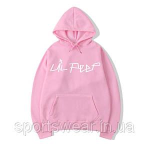 Розовое худи Lil Peep Logo, унисекс