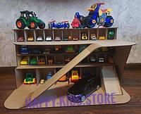 Паркинг-гараж, Детский многоуровневый гараж для машинок, деревянная парковка для машинок