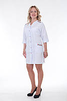 Женский медицинский халат вышивка