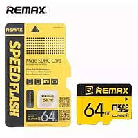 Карта памяти Micro SDHC (Микро СД) 64 GB REMAX ОРИГИНАЛ