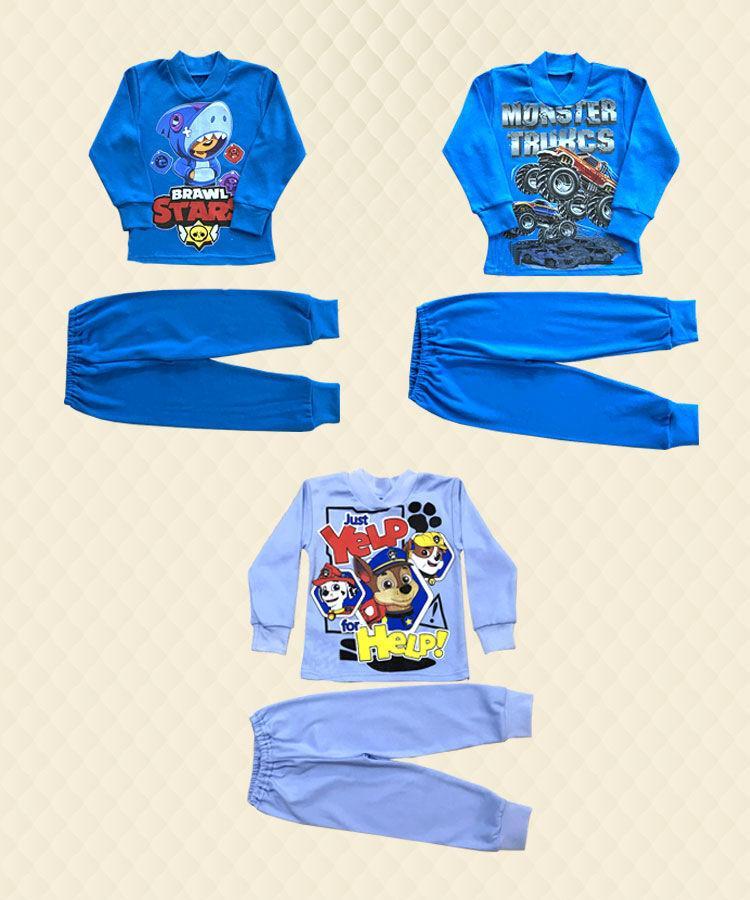 Пижама для мальчика принт интерлок