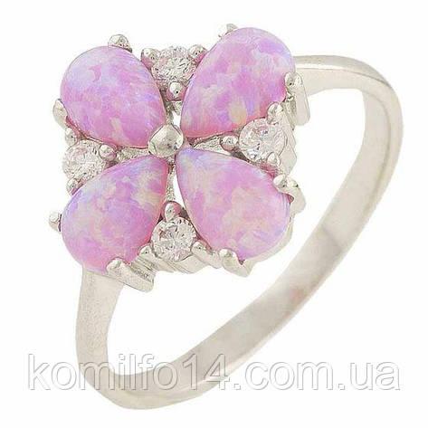 Серебряное кольцо Komilfo с опалом (0565712) 17.5 размер, фото 2