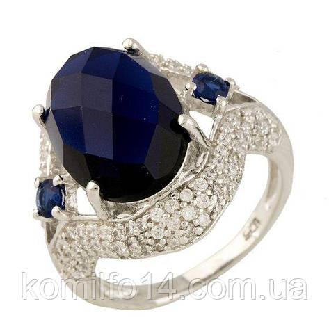 Серебряное кольцо Komilfo с сапфиром nano (0699776) 17.5 размер, фото 2