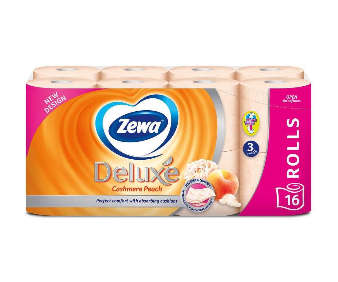 Туалетний папір Zewa Deluxe Cashmere Peach тришаровий (персик) 16 шт.