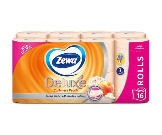 Туалетний папір Zewa Deluxe Cashmere Peach тришаровий (персик) 16 шт., фото 2
