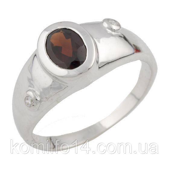 Серебряное кольцо Komilfo с натуральным рубином (1090961) 17 размер