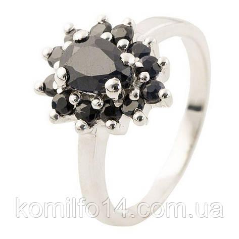 Серебряное кольцо с натуральным сапфиром, фото 2