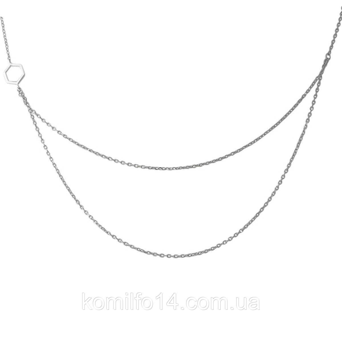 Серебряное колье Komilfo без камней (1966938) 7578 размер