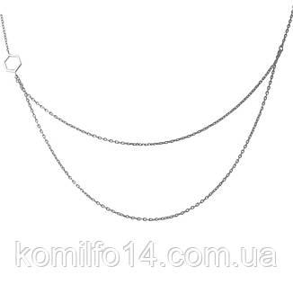 Срібне кольє Komilfo без каменів (1966938) 7578 розмір, фото 2
