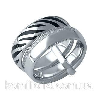 Срібне кільце Komilfo з фіанітами (1982396) 19 розмір, фото 2