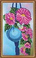 """Набор для вышивания бисером на художественном холсте """"Гибискус"""""""