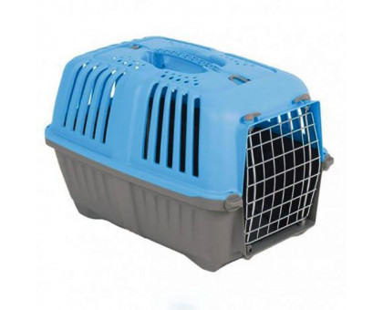 Перенесення MPS Pratico 1 для тварин з металевою дверцятами блакитна 48 × 31.5 × 33 см