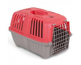 Переноска MPS Pratico 1 для животных с металлической дверцей красная 48×31.5×33 см