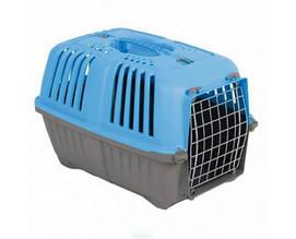 Переноска MPS Pratico 2 для животных с металлической дверцей голубая 55×36×36 см