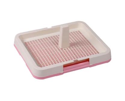 Туалет під пелюшки AnimAll з гратами і стовпчиком 48.3x40.3х4 см рожевий