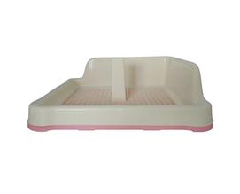 Туалет под пеленки AnimAll с решеткой столбиком и стеной P 962-A 48.5x40.6х15 cм розовый