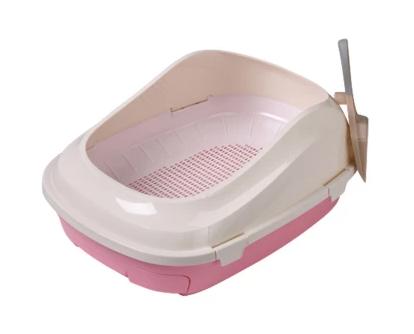 Туалет с сеткой AnimAll P 1061 для взрослых кошек 56×40×21 розовый